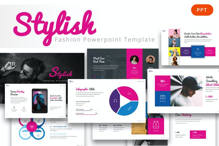 Thumbnail for Stylish - Fashion Powerpoint Template