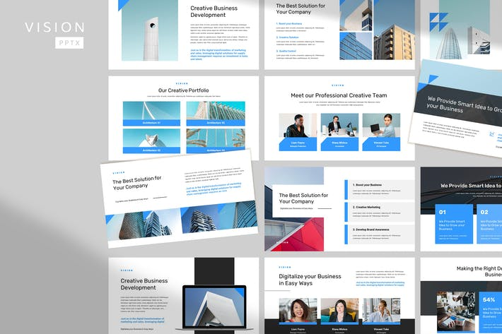 Thumbnail for Vision - Corporate Pitch Powerpoint Template