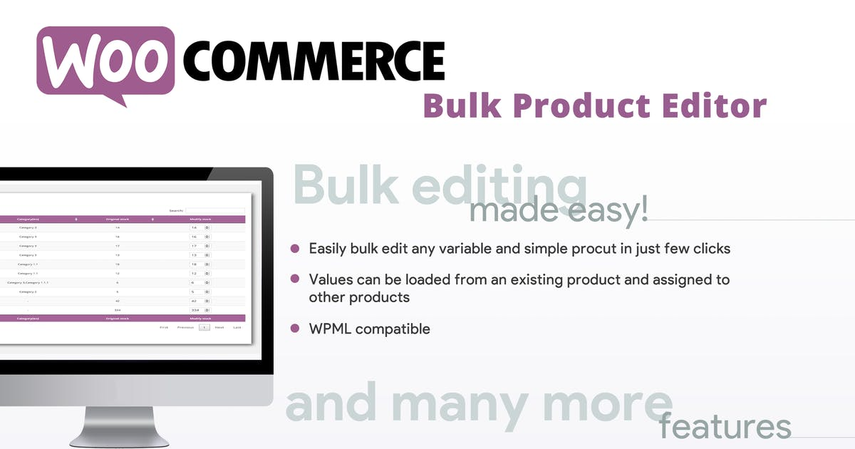 Download WooCommerce Bulk Product Editor by vanquish