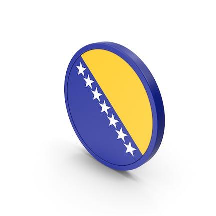 Flagge von Bosnien und Herzegowina Ikone
