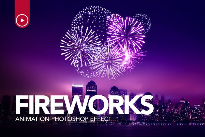 Thumbnail for Action Fireworks Animation Photoshop