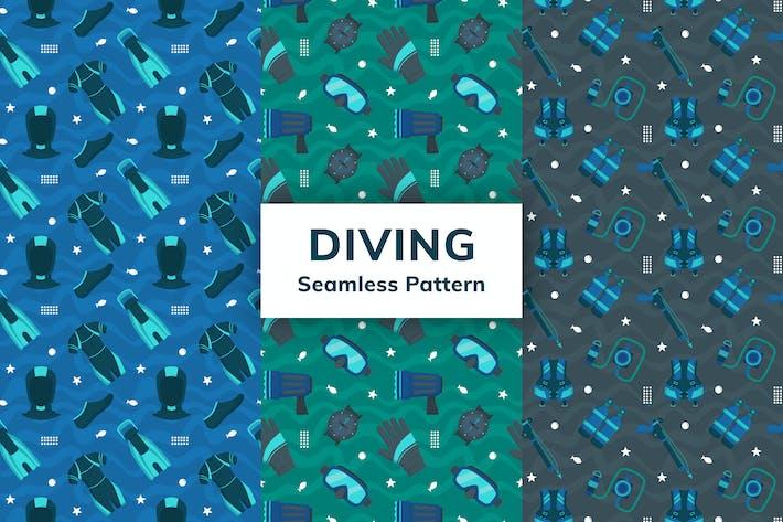 Diving Seamless Pattern