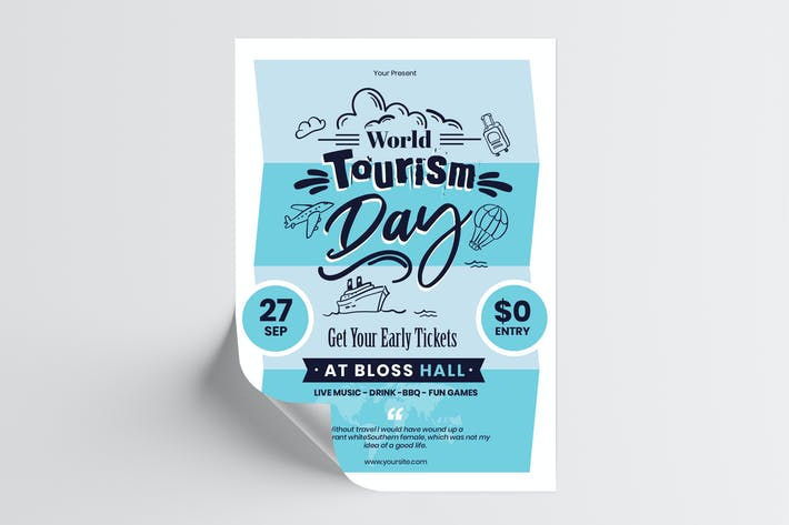Thumbnail for World Tourism Day Flyer Template