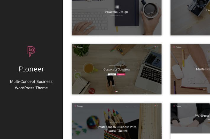 Thumbnail for Pioneer - Multi-Concept Corporate WordPress Theme