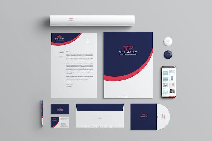 Thumbnail for The Molly Branding Identity & Stationery Pack