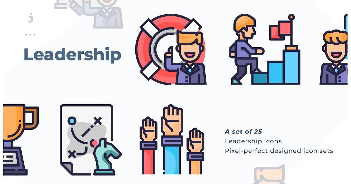 Download 25 Leadership Icon set by Justicon