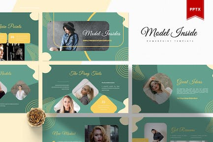 Model Insides   Powerpoint Template