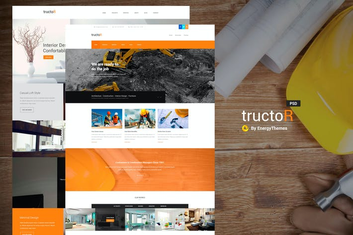 Thumbnail for Tructor - Construction PSD Template