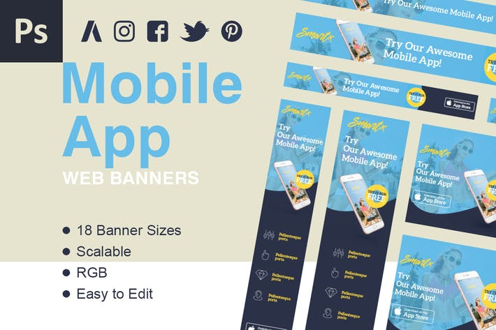 Thumbnail for Mobile App Web Banner Ads