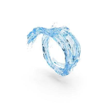 Water Blue Vortex Tunnel