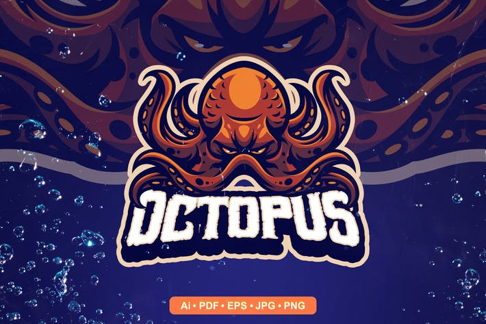 Thumbnail for Octopus Esports and Sports mascot Logo