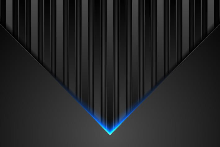 Thumbnail for Black abstract tech background with blue neon