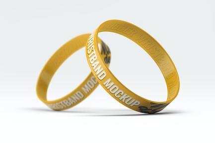 Silicone Rubber Wristband Bracelet Mock-Up