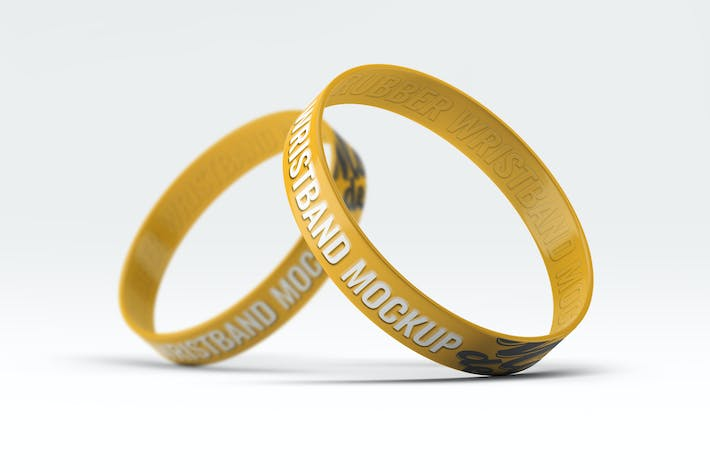 Thumbnail for Silicone Rubber Wristband Bracelet Mock-Up