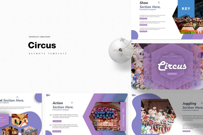 Thumbnail for Circus | Keynote Template
