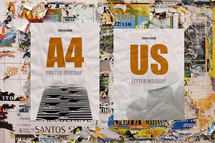 Thumbnail for Street Art: Paper Poster Mockups