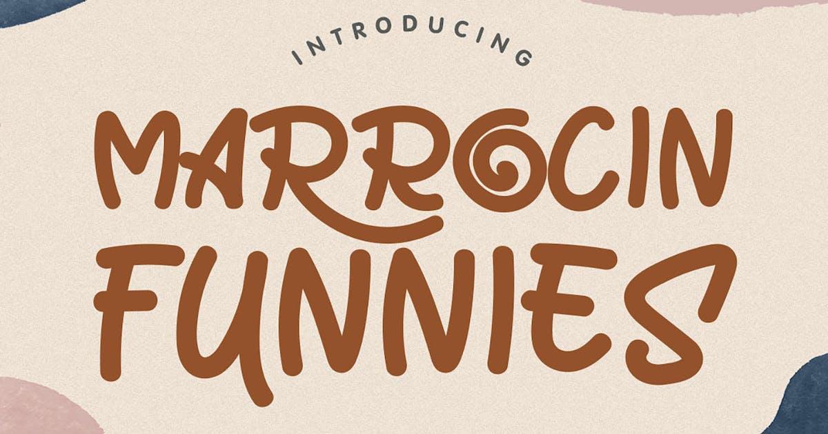 Download Marrocin Funnies - Playful Display Font by kotakkuningstudio