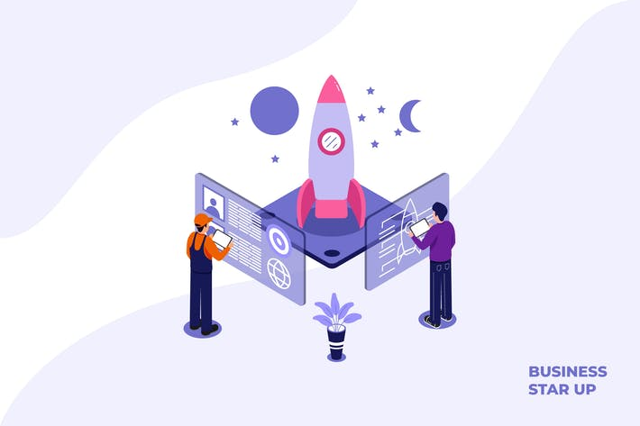 Thumbnail for Business Start Up - Ilustration Template