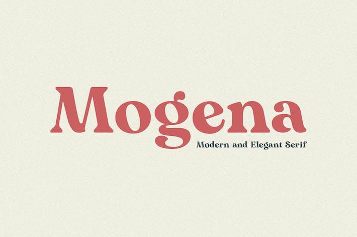 Mogena - Fuente Con serifa Elegante