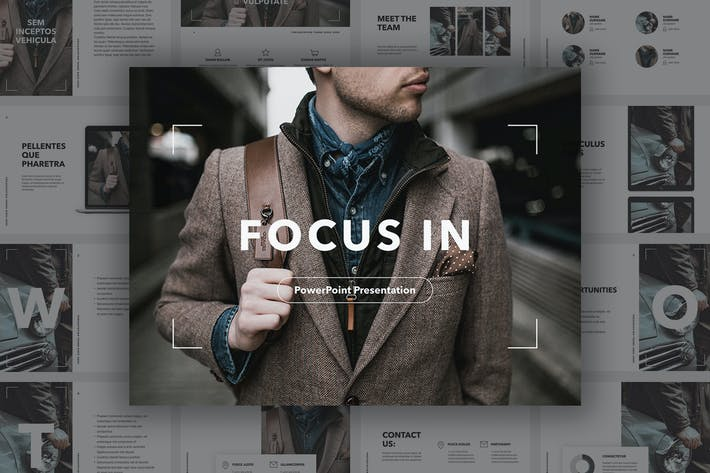 Thumbnail for Focus In PowerPoint Template