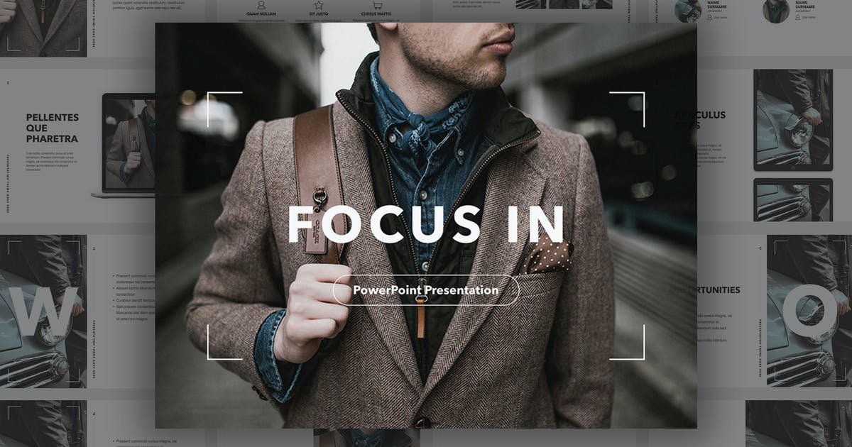 Focus In PowerPoint Template by Unknow