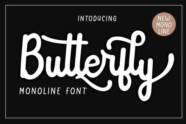 Thumbnail for Butterfly Monoline Font