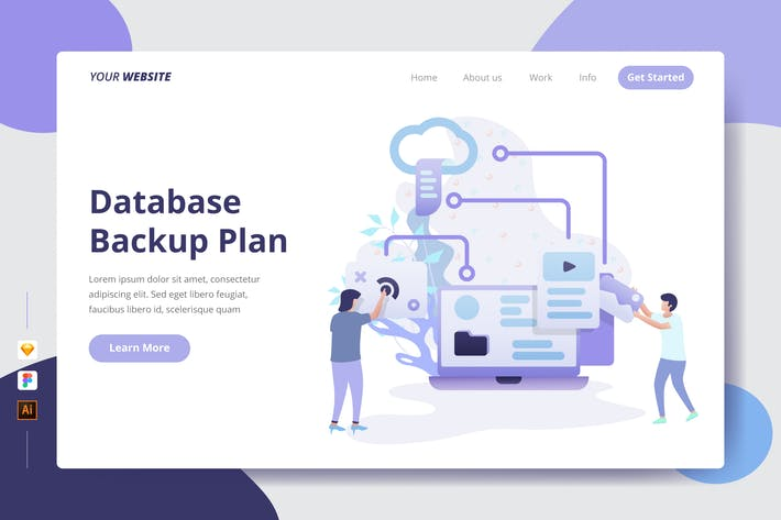 Cover Image For Database Backup Plan - Landing Page