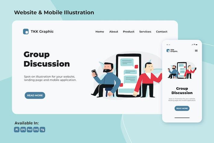 Thumbnail for Discussion de groupe - collège vie web et mobile