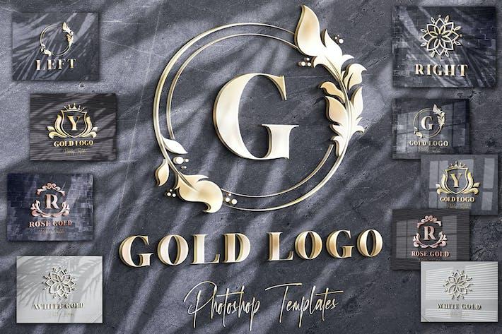 Thumbnail for Gold Text/Logo Wall Mockups