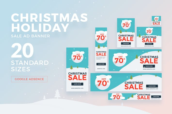 Thumbnail for Christmas - Holiday Sale Ad Banner