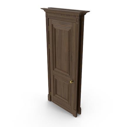 Классическая дверь грецкого ореха