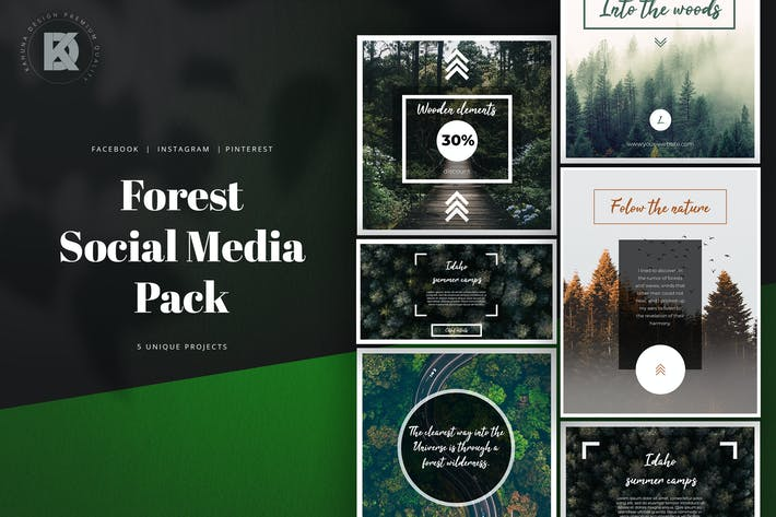 Thumbnail for Forest Social Media Pack