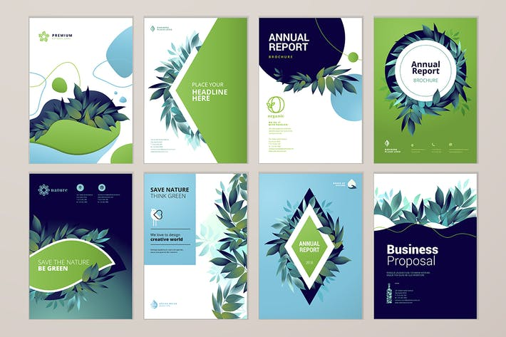 Thumbnail for Brochure cover design and annual report templates
