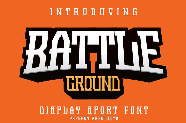 Thumbnail for Battleground - Display Sport Font