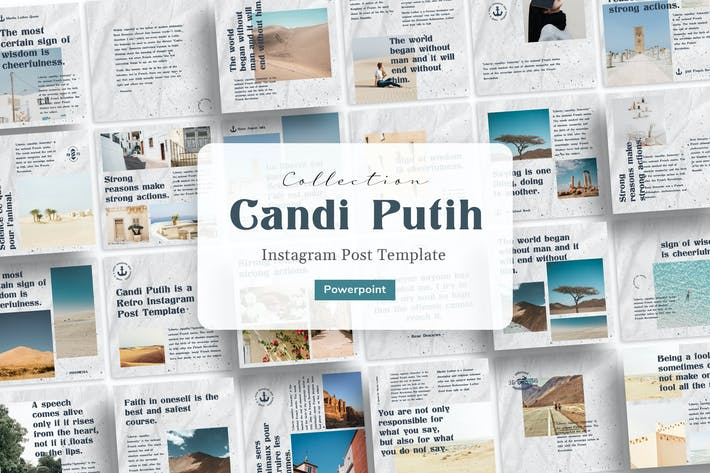 Thumbnail for Candi Putih - Ретро Instagram Шаблон Powerpoint