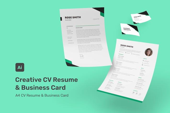 Rose - Creative CV Resume Set