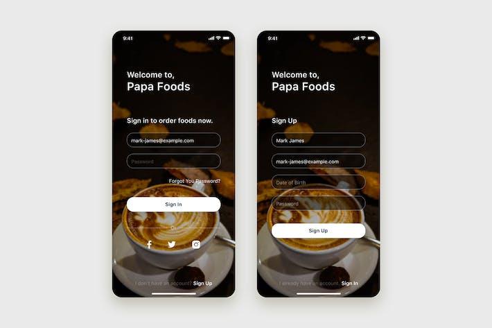 Thumbnail for Концепция мобильного пользовательского интерфейса формы аутентификации