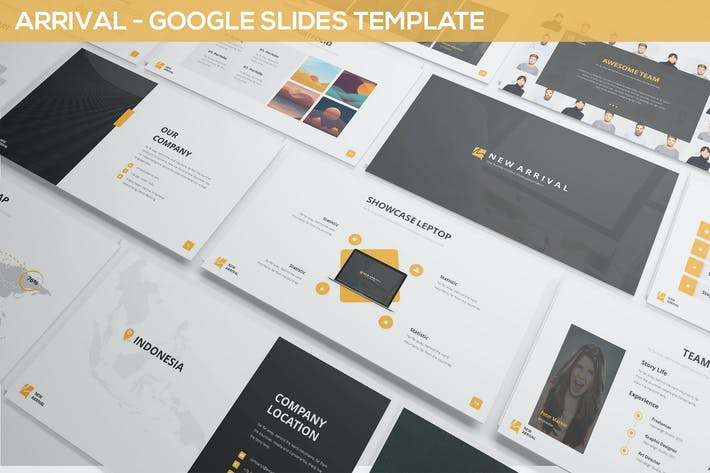 by inspirasign in presentation templates thumbnail for arrival google slides simple theme