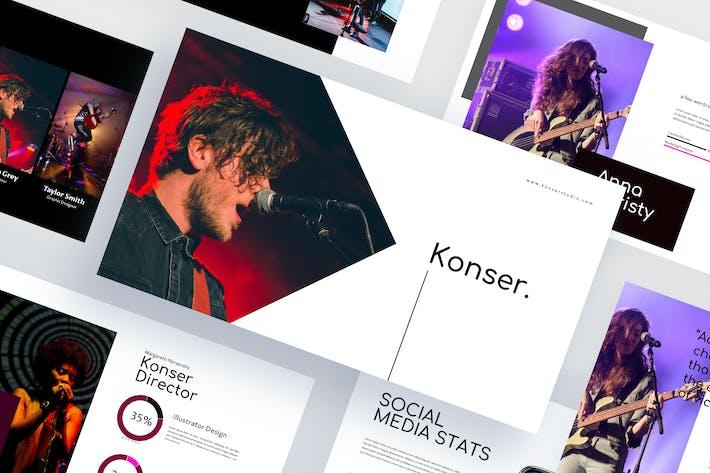 Thumbnail for Konser - Google Slides Template