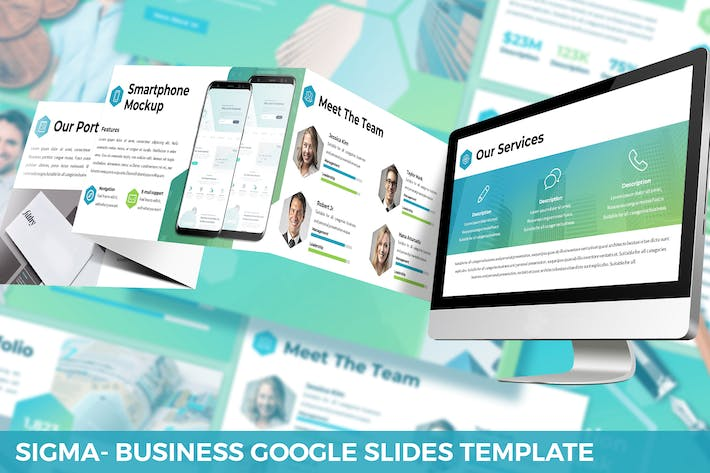 Thumbnail for Sigma - Business Google Slides Template