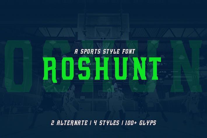Thumbnail for Roshunt - NFC Font Family