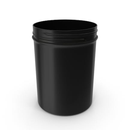 Plastic Jar Wide Mouth Straight Sided 8oz Without Cap Black