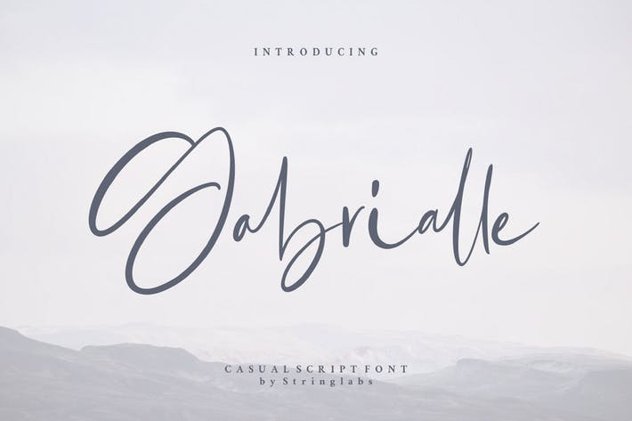 Thumbnail for Gabrialle - Casual Script Font