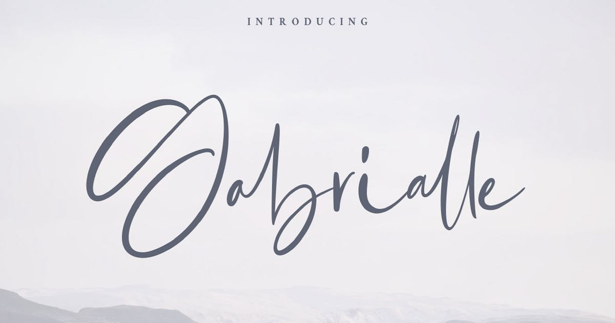 Download Gabrialle - Casual Script Font by StringLabs