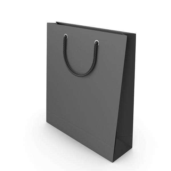 Schwarze Verpackungstasche mit schwarzen Griffen