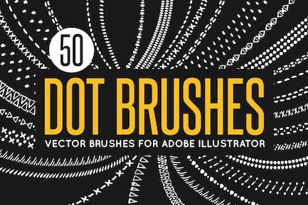 50 Vector Dot Brushes