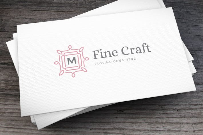 Cover Image For Fine Craft Logo Template