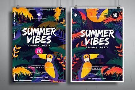 Tropische Sommer-Poster