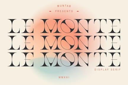 Le Monte | Pantalla con serifa