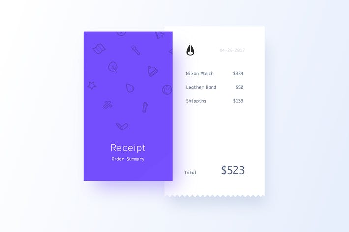 Receipt Invoice Template By Cerpow On Envato Elements - Free online invoice template online sneaker stores